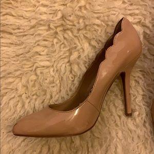 Betsey Johnson Scalloped Nude Heels